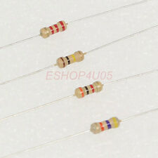 100 pcs 1/4W 0.25W 5% Carbon Film Resistors resistor 330 - 3.9K ohm New