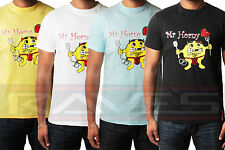 Mr Horny Men's Funny T-shirt Novelty Slogan Funny Humour Tee 100% Cotton