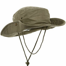 MG Men's Brushed Cotton Twill Aussie Side Snap Chin Cord Outback Safari Hat NEW