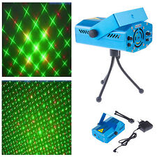 Blue Mini Laser Stage Projector Portable Lighting Adjustment Disco Club DJ Party