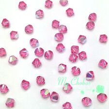 4mm Rose AB (209 AB) Swarovski crystal 5328 / 5301 Loose Bicone Beads