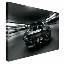 New framed car Mustang on the road Canvas Wall Art Print Large + Any Size