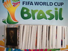 2014 FIFA World Cup Stickers Numbers 00-59 Panini Brasil Brazil Stickers Foils