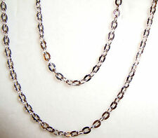 "10k white gold diamond cut cable chain(16""/18""/20"")"