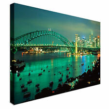 Cityscape stunning sydney harbour Canvas Wall Art Print Large + Any Size