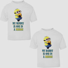 New Baby And Toddler T-shirt Cute One In A Minion Funny Despicable Me Top Size