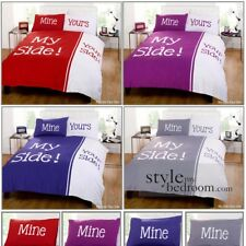 """""""My Side Your Side"""" Retro Chic Duvet Quilt Cover Bedding Set & Pillowcases"""