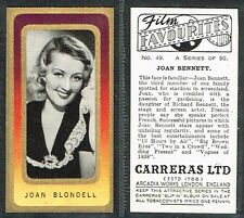 Carreras - Film Favourites 1938 #1 to #50 UK Movie Cards (from £0.99 each)