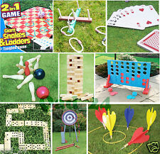 GARDEN LAWN GAMES GIANT BBQ PARTY ARCHERY, CONNECT 4 IN A ROW, SNAKES & LADDER'S