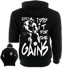 I DID IT FOR THE GAINS hoodie, gym pullover, gym sweater bodybuiliding clothing