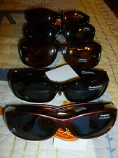 Solar Optics Ladies Fashion Sunglasses Fits Over RX Polarized 100% UAV  NWT
