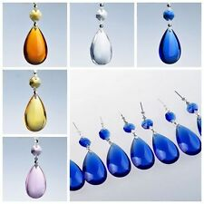 1 Chandelier Glass Crystals Lamp Prisms Parts Hanging Drops Pendants 3.7''