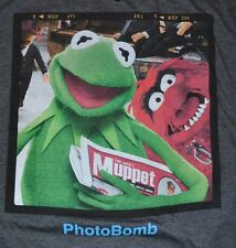 Disney Muppets Kermit with Animal Photo Bomb Officially Licensed T-Shirt Tee