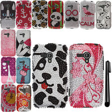 For Samsung Galaxy Rush M830 DIAMOND BLING CRYSTAL HARD Case Phone Cover + Pen