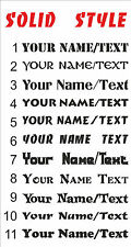CUSTOM Personalised Your Name Text lettering SOLID STYLE decal sticker vinyl S2