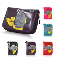 Ladies Womens Girls Zip Faux Leather Elephant Purse Coin Wallet Card Holder
