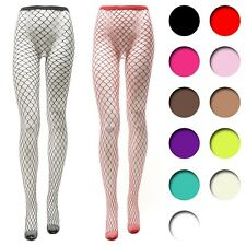 Womens ladies Fishnet Fence net pantyhose sexy stocking tights reinforced toe