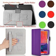 """For Samsung Galaxy NOTE Pro 12.2"""" PU Leather Case Cover Stand w/ Hand Strap NEW"""