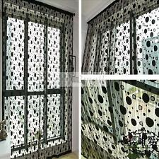 Beautiful Circle Tassel Window Door Curtain Divider Sheer Curtains Panel Scarfs