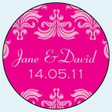 Personalised Wedding Stickers Labels. Any Colour. 5 sizes. Fleur de Lys 006