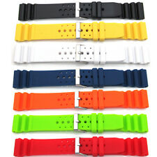 Mens Ladies Divers Watch Strap For SEIKO CITIZEN Sport PU/Rubber Waterproof Band