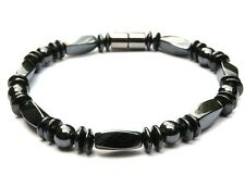 Men's Women's 100% Magnetic Hematite Bracelet Anklet 1- 2-3 Row Strong Gauss AAA