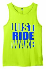 JUST RIDE WAKE BOARD LIME TANK TOP SINGLET SHIRT BOAT TOWER CWB LIQUID FORCE