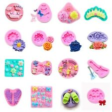 Silicone Icing Mould Cake Cupcake Candy Sugar Gum Paste Fondant Decorating Tools
