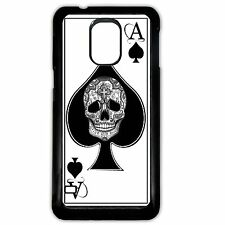 Cover for Samsung Galaxy S5 Ace of spades skull playing card tattoo phone case