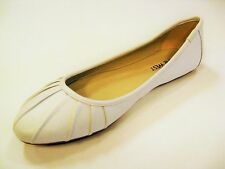Nine West Blustery White Leather Ballet Flat Sz 6-10