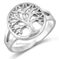 925 Sterling Silver Open TREE OF LIFE Ring Sz 5-11 USA Seller