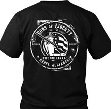Sons of Liberty - Original Rebel Alliance : T-Shirt  Made in USA.