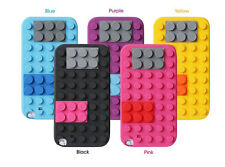 3D BUILDING LEGO BLOCKS SOFT SILICONE CASE COVER FOR SAMSUNG GALAXY S4 SIV I9500