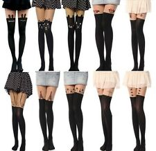 Fashion Summer Lady Tattoo Socks Sheer Pantyhose Mock Stockings