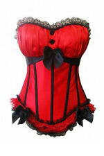 Sexy Bandeau Corsage Corset Red New 414