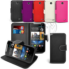 BOOK WALLET LEATHER CASE FLIP CASE COVER POUCH FOR HTC DESIRE 310