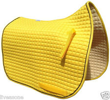Sunflower Yellow English Saddle Pad in 3 Sizes: Dressage | All-Purpose | Pony*