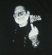Willie Nelson Giving the Finger Adult T-Shirt Officially Licensed Zion Rootswear