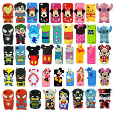 Hot New 3D Cartoon Super Hero Rubber Soft Back Case Cover for iPhone 5S 4 4G 4S