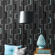 Grey/Black Modern Abstract Printed Geometric Designer wallpaper for Walls Roll