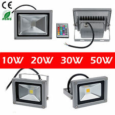 10W 20W 30W 50W LED Flood Light  RGB Warm Cool White Outdoor Spot Lamp Lots