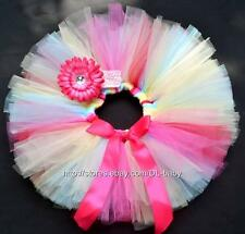 Pink Tutu baby skirt tutu baby birthday tutu toddler skirt + baby girl headband