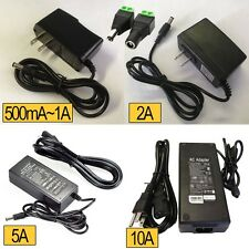 Power Adapter Supply 12V 500mA 1A 2A 3A 5A 6A 8A 10A 5.5/2.1/2.5 DC Power Plug