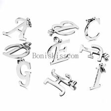 Silver Stainless Steel Alphabet Initial Letter Pendant Necklace Gifts ( A-Z)