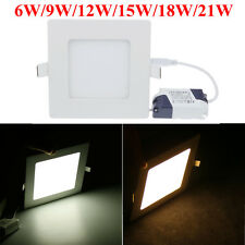 9W 10W 12W 15W 18W 20W 21W 3528 SMD LED Recessed Ceiling Downlight Lamp +Driver