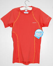 NWT Columbia Women's Coolest Cool Short Sleeve Orange Workout Top FREE SHIPPING