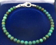 turquoise gemstone beads bead 925 sterling silver bracelet natural blue green