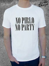 * NO PIRLO NO PARTY T-shirt Top Juventus World Cup Italy 2014 Mens Brazil *