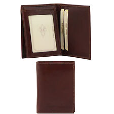 TUSCANY LEATHER artisan wallet with pocket for documents made in Italy