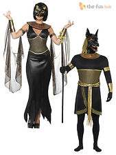 Mens Ladies Halloween Egyptian God Goddess Fancy Dress Outfit Couples Costume